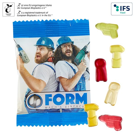 Fruchtgummi-Standardformen 10 g in kompostierbarem Tütchen